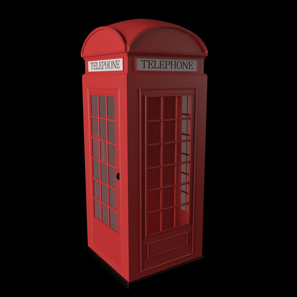 3DOcean 3D British Red Telephone Box 2617497