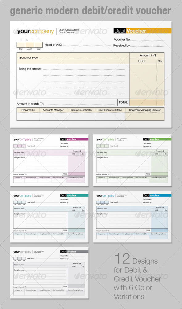 GraphicRiver Generic Modern Debit Credit Voucher 2617891