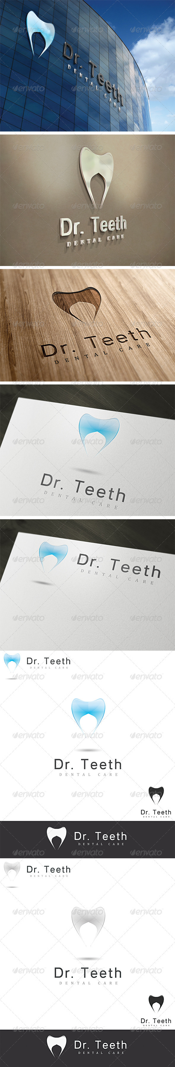 GraphicRiver Dr Teeth Dental Logo Template 2606351