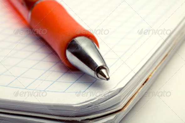 Ballpoint Pen on Notebook - Stock Photo - Images