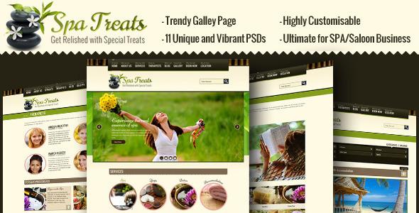 ThemeForest Spa Treats A Health / Spa Saloon PSD Template PSD Templates Retail Health & Beauty 2619042