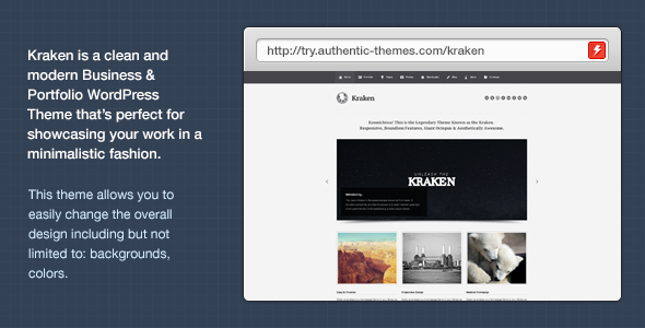 Kraken Business & Portfolio WordPress Theme