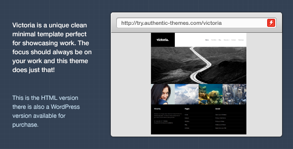 Victoria Portfolio & Photography Template