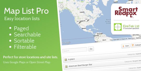CodeCanyon Map List Pro 2620196