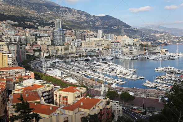 Monaco sunny afternoon - Stock Photo - Images