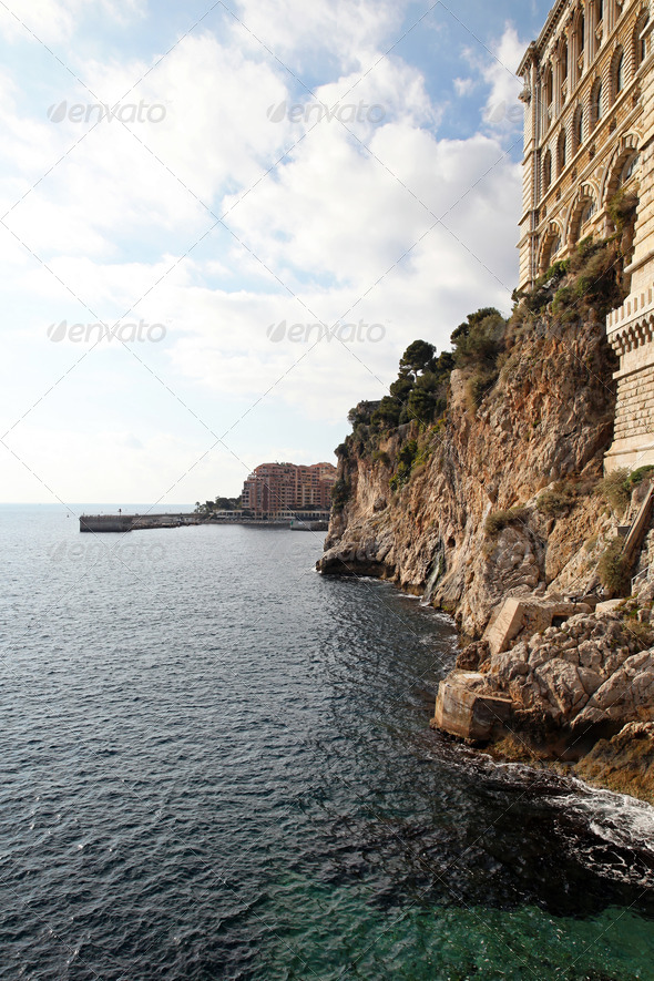 Monaco coast - Stock Photo - Images