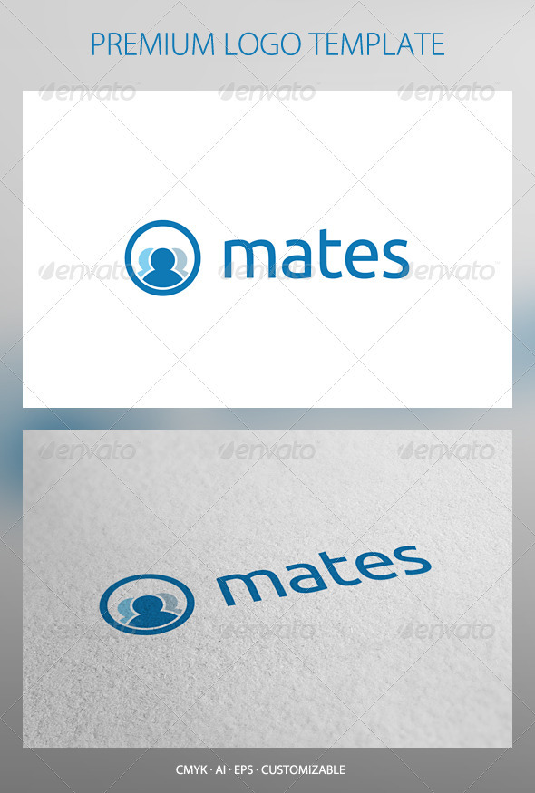 Mates - Social Network Logo template - Humans Logo Templates