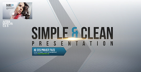 After Effects Project - VideoHive Simple & Clean Presentation 2620498
