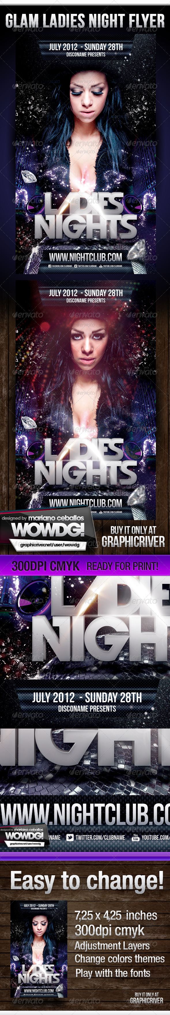 Ladies Night Party Flyer V2 - Clubs & Parties Events