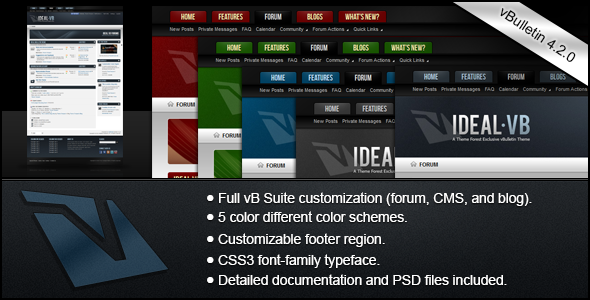 ThemeForest Ideal A vBulletin 4 Suite Theme 575401