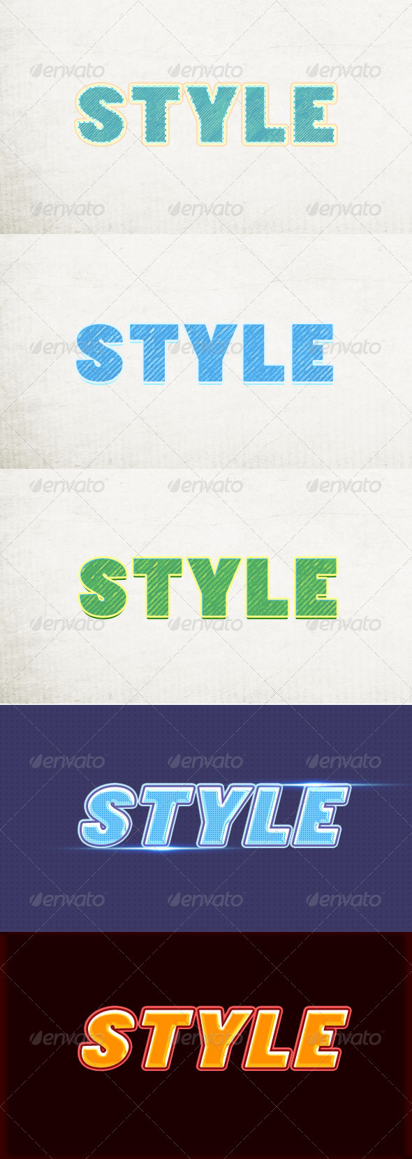 5 Sketch Text Style - Text Effects Styles