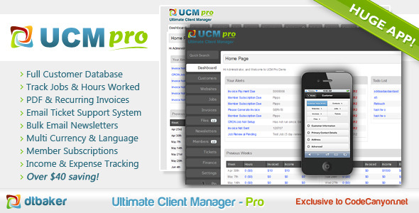 Ultimate Client Manager - CRM - Pro Edition - CodeCanyon Item for Sale