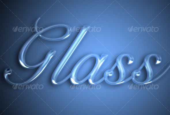 GraphicRiver Glass text effect 95039