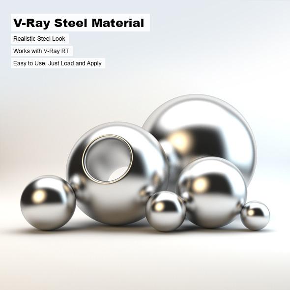 3DOcean V-Ray Steel Material 2621805