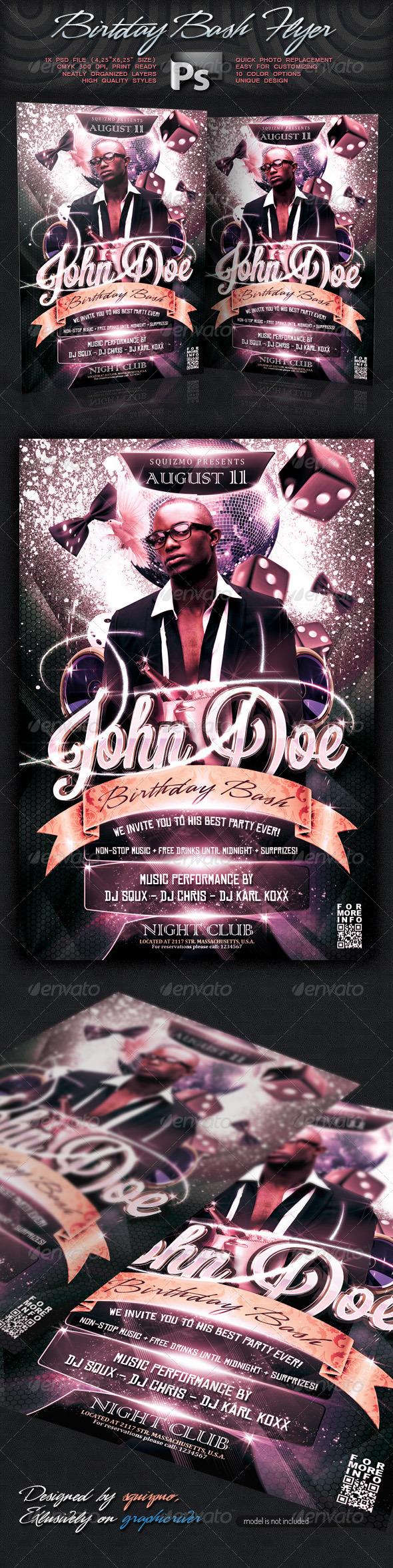 GraphicRiver Birthday Bash Flyer 2622255