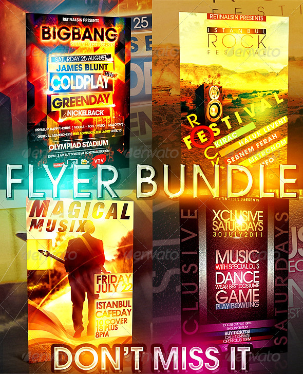 GraphicRiver Big Bang Flyer Bundle 4 in 1 293375