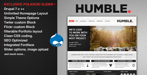 humble prewview - Cooker - HTML5 & CSS3 Drupal Theme