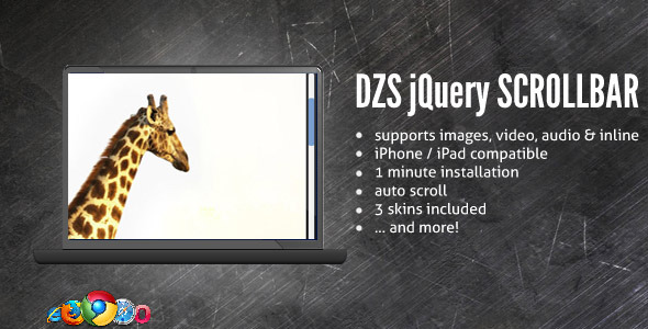 CodeCanyon DZS Scroller jQuery Scrollbar done right 293380