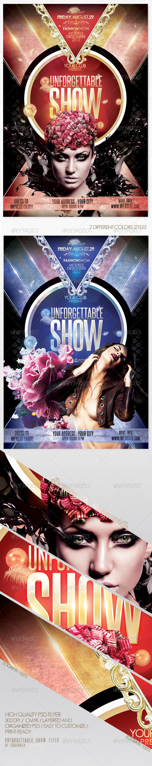 Unforgettable Show Flyer Template - Clubs & Parties Events