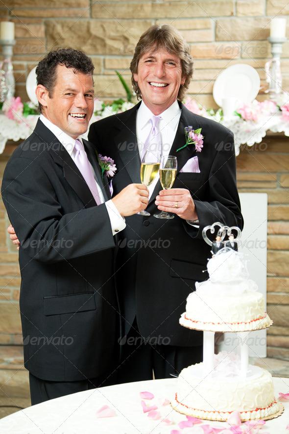 Gay Wedding - Champagne Toast