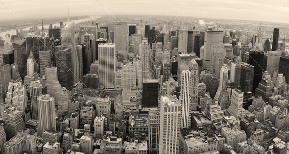 New York City manhattan panorama - Stock Photo - Images