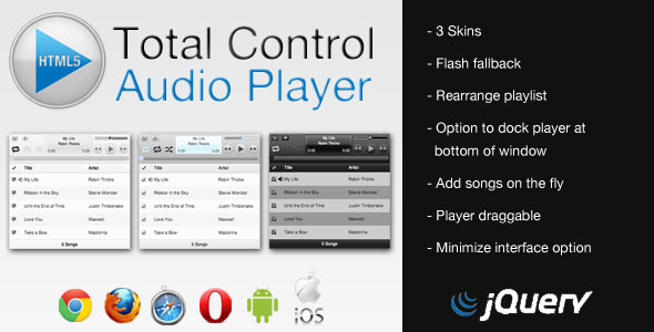 CodeCanyon Total Control HTML5 Audio Player 2623027