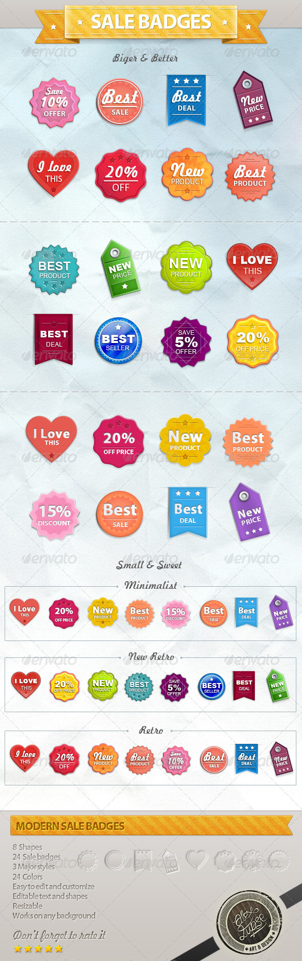 Sale Badges and Tags - Badges & Stickers Web Elements