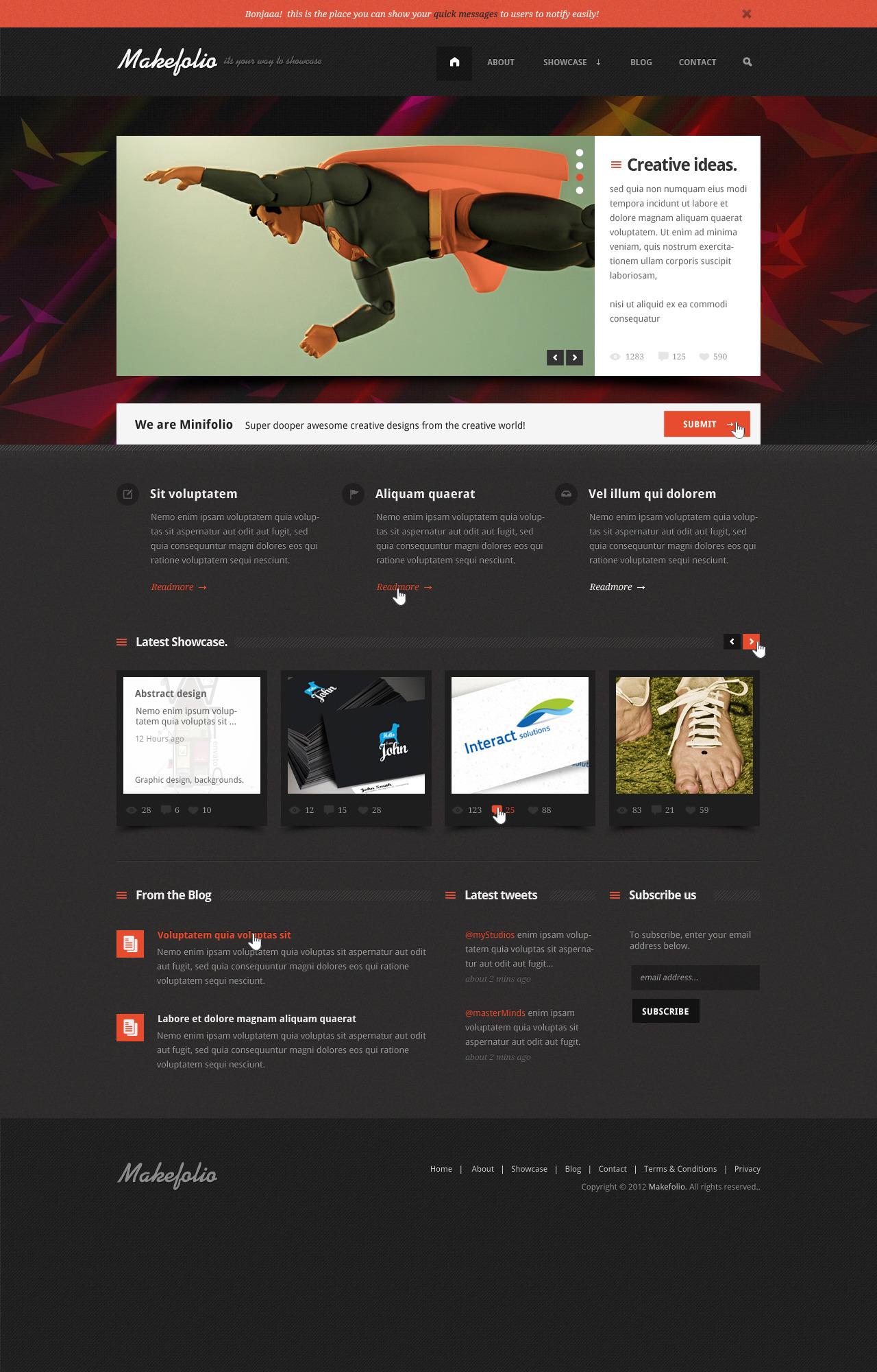 Makefolio   Unique Multipurpose Showcase PSD Templ
