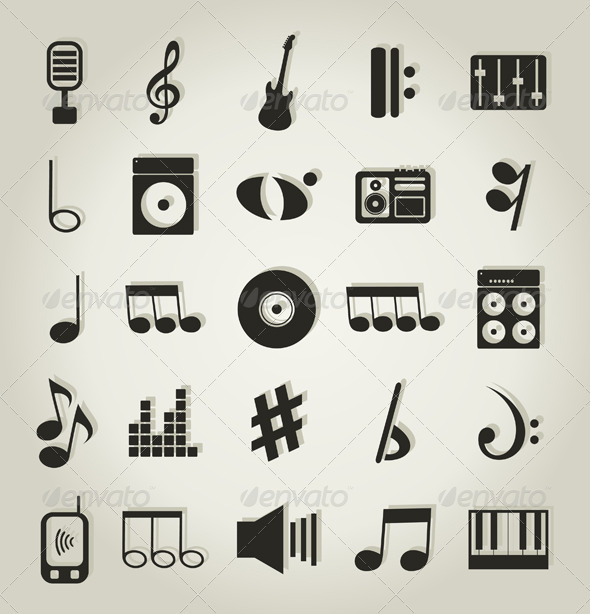 Musical icons9 - Web Elements Vectors