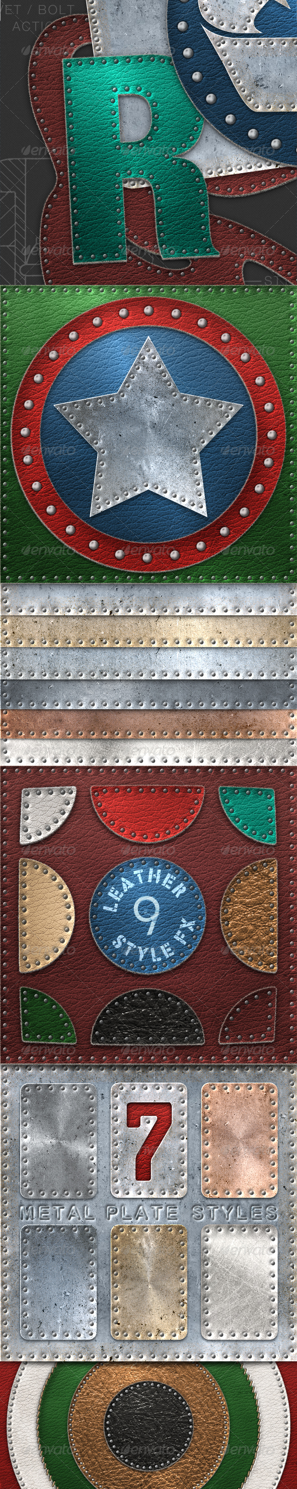 GraphicRiver Rivet Bolt Stitch Creator for Metal and Leather 2625454