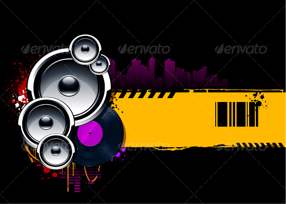 Abstract musical background - Characters Vectors