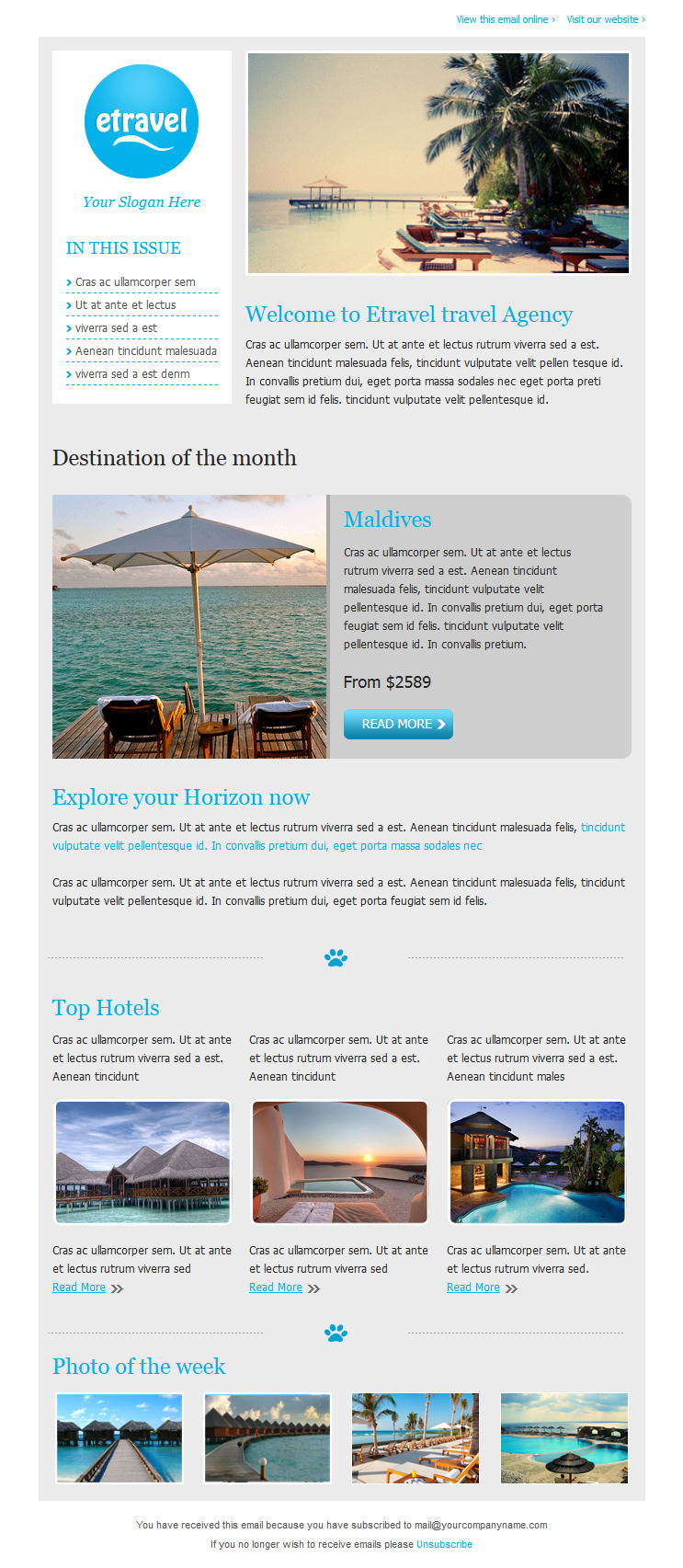 Etravel Email