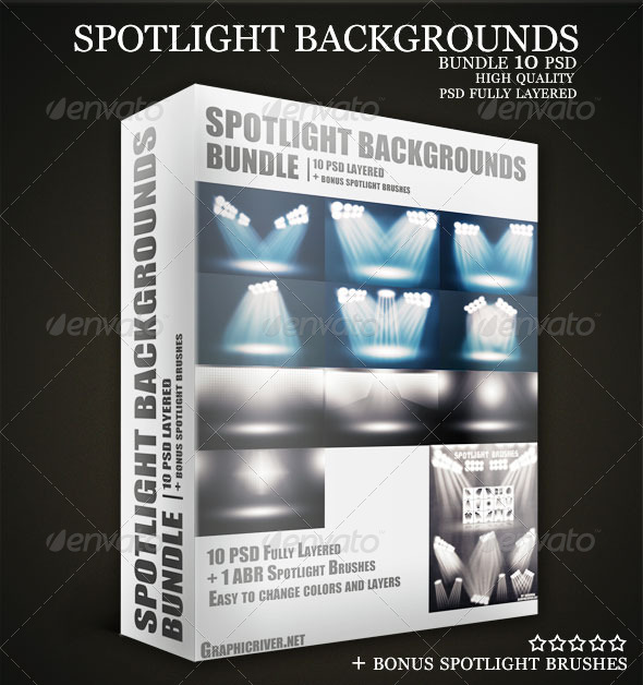 GraphicRiver Stadium Spotlights Backgrounds PSD Bundle 2626629