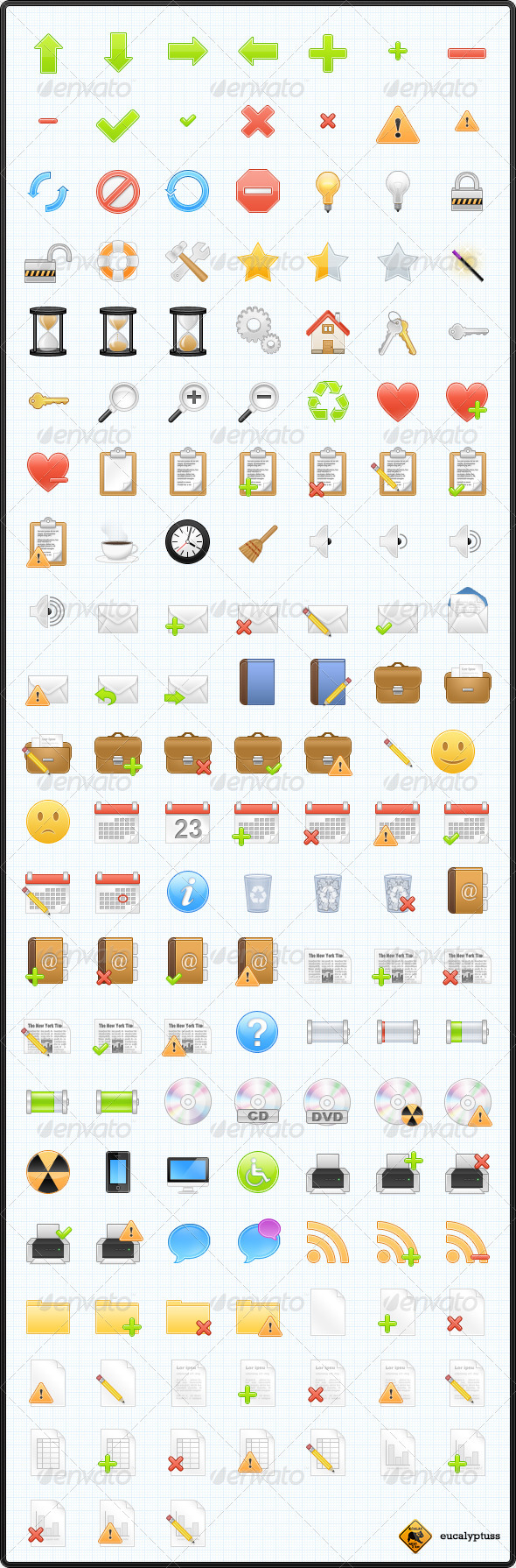 GraphicRiver 150 Web & Software Icons 68437