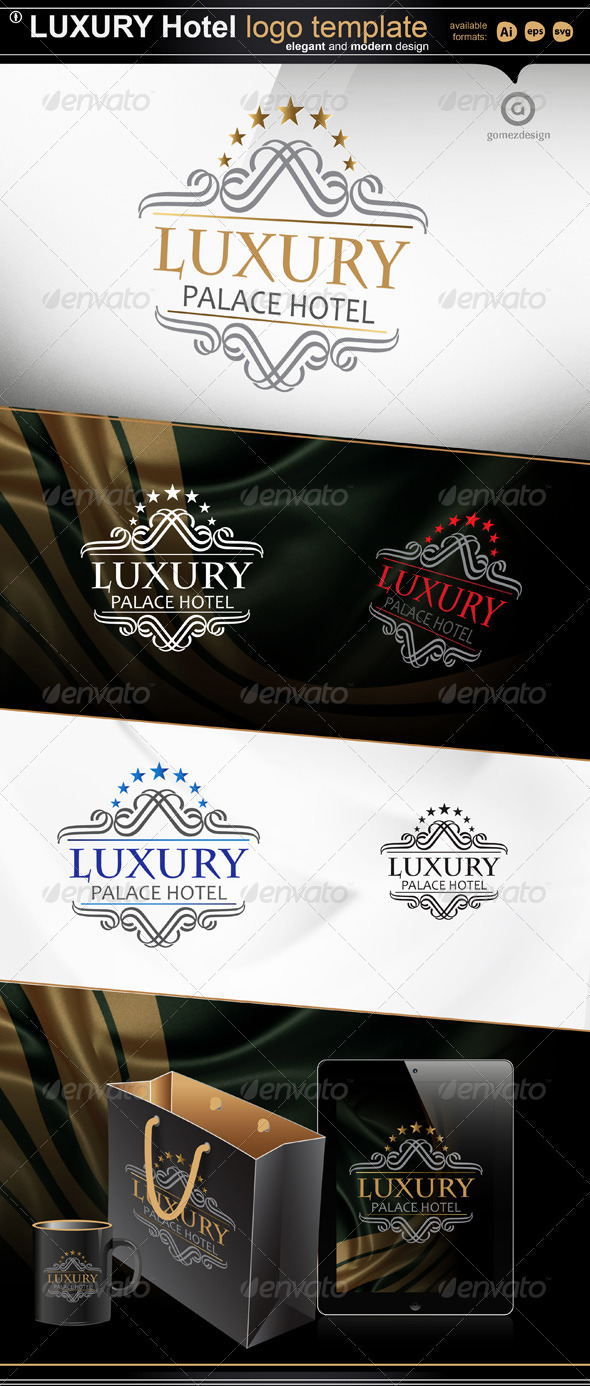 Luxury - Palace Hotel - Crests Logo Templates