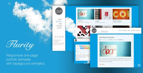 Flurity - Responsive One Page Template - Portfolio Creative