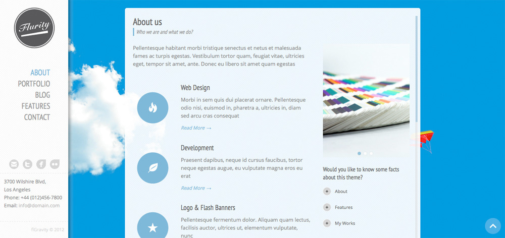 Flurity - Responsive One Page Template - Screenshot 2