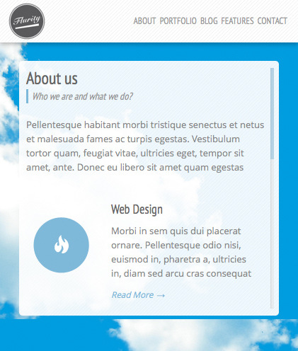 Flurity - Responsive One Page Template - Screenshot 9