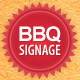 BBQ Restaurant Outdoor Banner Signage  - GraphicRiver Item for Sale