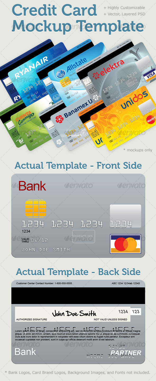 GraphicRiver Credit Card Mockup Template 95208