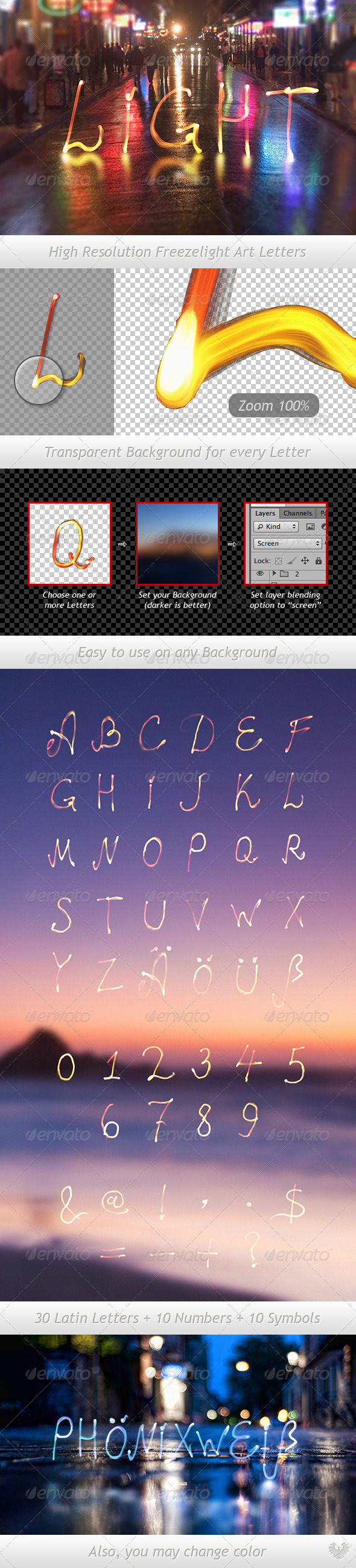 GraphicRiver Freezelight Typeface 2614708