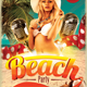 Retro Beach Party Flyer - GraphicRiver Item for Sale