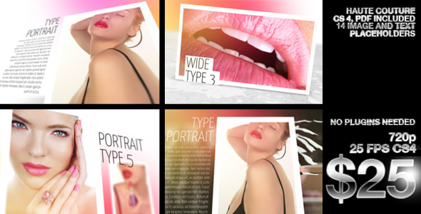 After Effects Project - VideoHive Beauty Portfolio Haute Couture 2620379