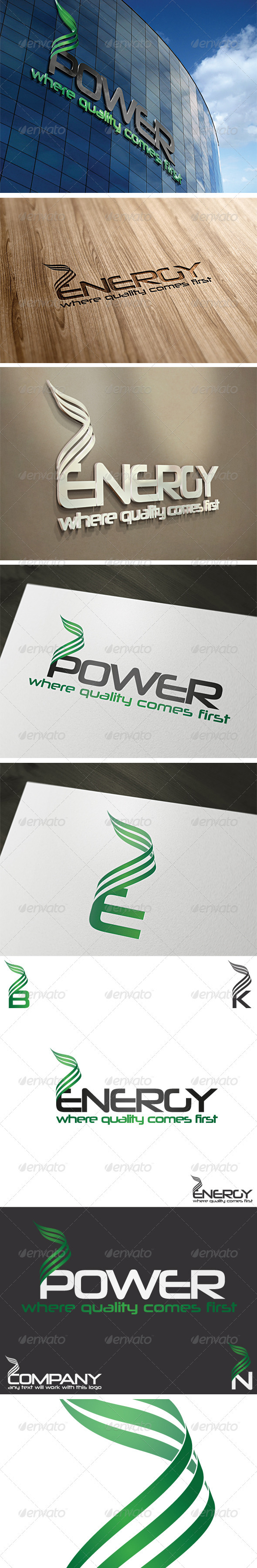 Energy Logo Template - Vector Abstract
