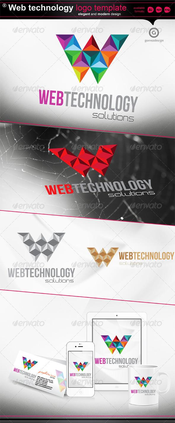 Web Technology Logo Template