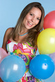 Happy Balloons Girl - PhotoDune Item for Sale