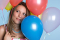 Girl Holding Balloons - PhotoDune Item for Sale