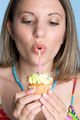 Girl Blowing Candle - PhotoDune Item for Sale