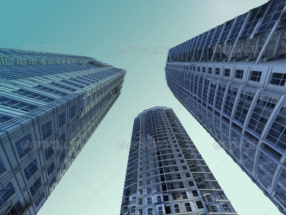 Skyscrapers - Stock Photo - Images