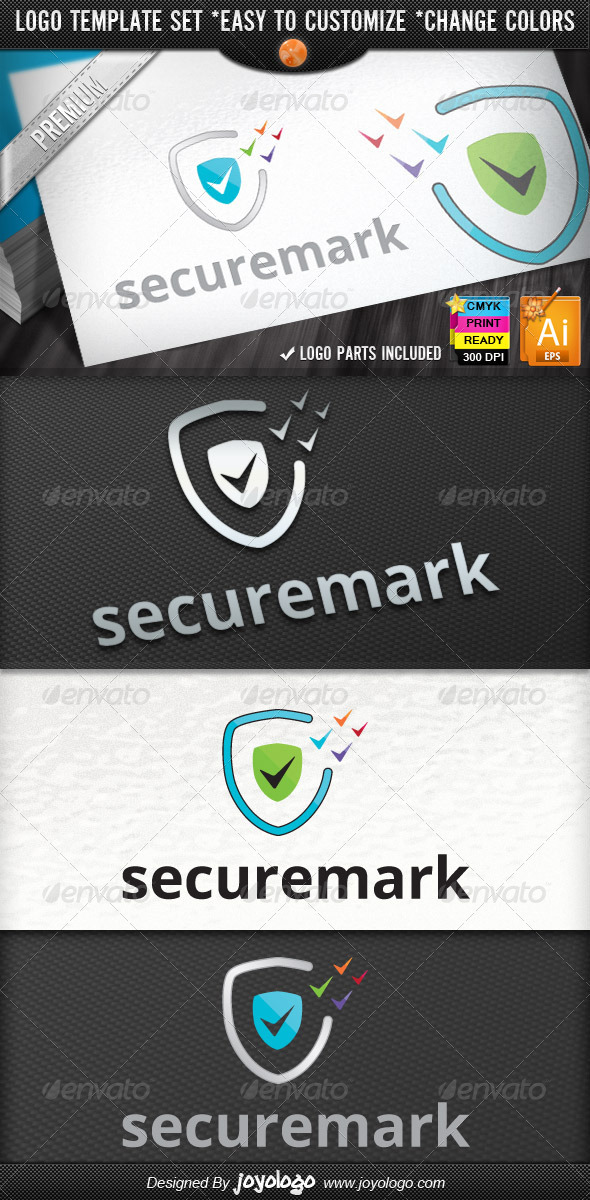 Pixel Marks Internet Security Check Logo Design